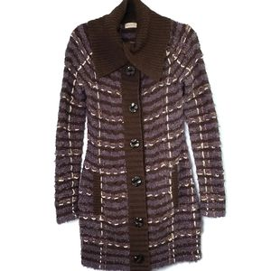Anthropologie Sleeping on Snow Stitch Sweater Coat